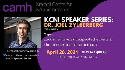 KCNI Speaker Series: Dr. Joel Zylberberg