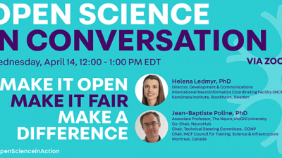 "Neuro Event: April 14, 12:00PM – Open Science In Conversation: ""Make it Open, Make it FAIR, Make a Difference"""