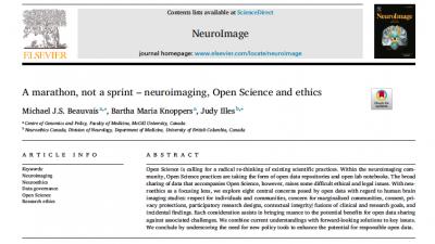A marathon, not a sprint –neuroimaging, Open Science and ethics