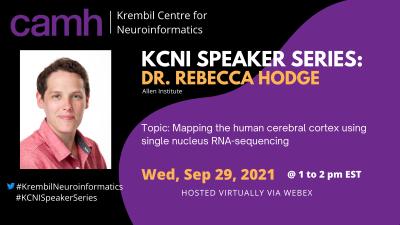 KCNI Speaker Series presents Dr. Rebecca Hodge – Wednesday, September 29, 2021, 1-2pm EDT